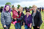 Liz O'Connor, Clodagh Walsh, Frances, Ann Marie and Eileen Sexton at Castleisland Races on Sunday