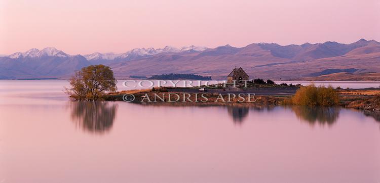 Church of the Good Shepherd. Lake Tekapo, Mackenzie Country. Canterbury Region. New Zealand.
