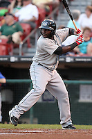 Syracuse Chiefs Leonard Davis during a game vs. the Buffalo Bisons at Coca-Cola Field in Buffalo, New York;  August 30, 2010.  Syracuse defeated Buffalo 4-1.  Photo By Mike Janes/Four Seam Images