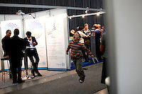 "Renewable sources will be helping to meet the world's demand for energy in the future. This development opens new markets and opportunities for business. Hoping to make ""green business"" and ""green profit"" over 60 exhibitors took part in the The North European Renewable Energy Convention (Nerec) , in Norway, presenting their solutions for renewable energy in the future. .© Fredrik Naumann/Felix Features"