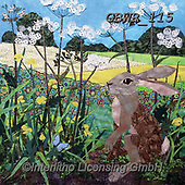 Simon, REALISTIC ANIMALS, REALISTISCHE TIERE, ANIMALES REALISTICOS, paintings+++++Card_KateF_ButtercupHare,GBWR115,#a#, EVERYDAY