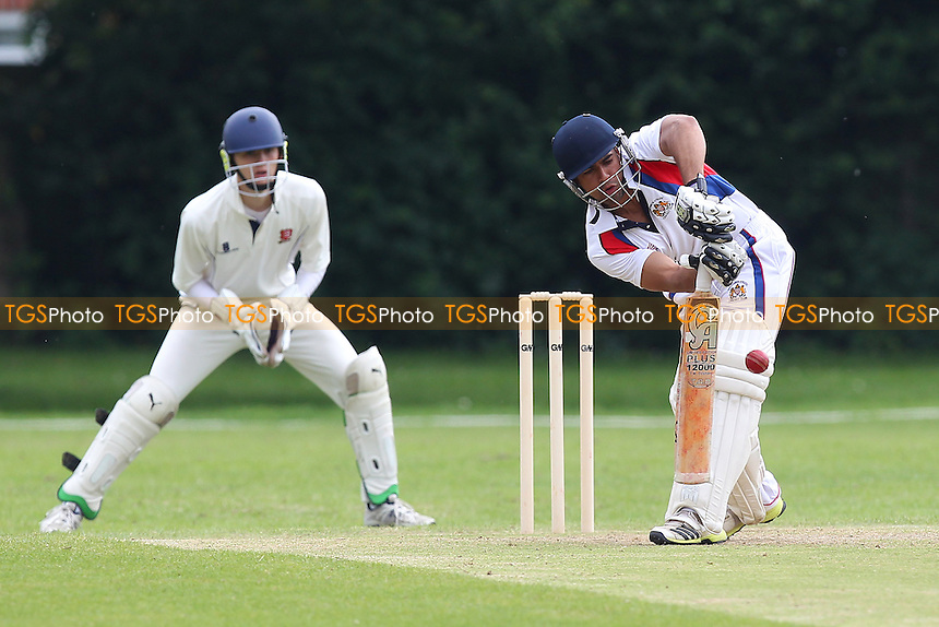Sam Samarasekera in batting action for Hornchurch Athletic - Hornchurch Athletic CC vs Rainham CC - Mid-Essex Cricket League - 17/05/14 - MANDATORY CREDIT: Gavin Ellis/TGSPHOTO - Self billing applies where appropriate - 0845 094 6026 - contact@tgsphoto.co.uk - NO UNPAID USE