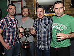 Niall Curran, Noel Lenihan, David Smith Joey Reynolds pictured at the Emmett Lynch Memorial Cup presentation night in Daly's Donore. Photo:Colin Bell/pressphotos.ie