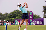 HAIKOU, CHINA - OCTOBER 31:  Lorena Ochoa of Mexico tees off on the 6th hole during day five of the Mission Hills Start Trophy at Mission Hills Resort on October 31, 2010 in Haikou, China.  The Mission Hills Star Trophy is Asia's leading leisure liflestyle event and features Hollywood celebrities and international golf stars. Photo by Victor Fraile / The Power of Sport Images