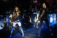 Ha Ash, dua group of Mexican-American pop-country music, composed of the sisters Hanna Nicole P&eacute;rez Mosa and Ashley Grace P&eacute;rez Mosa, during their concert in the Palenque area of the Expogan. Hermosillo Sonora to May 15, 2018.<br /> (Photo: NortePhoto / Luis Gutierrez)<br /> <br /> Ha Ash,  agrupacion dua de musica pop-country mexicano - estadounidense,  integrado por las hermanas Hanna Nicole P&eacute;rez Mosa y Ashley Grace P&eacute;rez Mosa, durante su concierto en el area de palenque de la Expogan. Hermosillo Sonora a 15 Mayo 2018.<br /> (Foto: NortePhoto/ Luis Gutierrez )