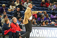 Washington, DC - December 22, 2018: High Point Panthers head coach Tubby Smith calls a play during the DC Hoops Fest between High Point and Richmond at  Entertainment and Sports Arena in Washington, DC.   (Photo by Elliott Brown/Media Images International)