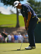 June 29, 2013  (Bethesda, Maryland)  Andres Romero puts on Hole 6 during Round 3 of the AT&T National. Romero ended the round in a four-way tie atop the leaderboard.  (Photo by Don Baxter/Media Images International)