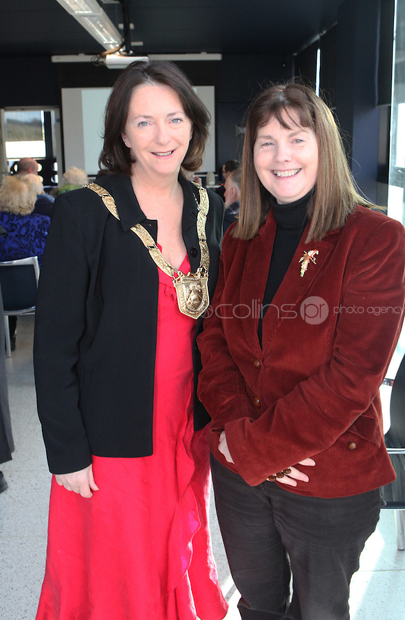 ***NO FEE PIC***.15/11/2010.(L to R).An Cathaoirleach Cllr Lettie McCarthy..Dr. Josephine Brone from the School of Business & Humanities at IADT.at the launch of Children's Hope.TV at The Media Cube, IADT,Dun Laoghaire, Co. Dublin..The Irish children's Charity Children's Hope has developed an online educational resource for young people & youth workers, a website caleed www.childrens-hope.tv..The websitte features short curriculm-adhering educational programmes available to be played by young people in after-school projects geared to Youth & Comunity Leaders..Photo: Gareth Chaney Collins
