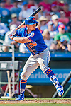 28 February 2019: New York Mets infielder J.D. Davis at bat during a Spring Training game against the St. Louis Cardinals at Roger Dean Stadium in Jupiter, Florida. The Mets defeated the Cardinals 3-2 in Grapefruit League play. Mandatory Credit: Ed Wolfstein Photo *** RAW (NEF) Image File Available ***