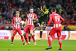 Atletico de Madrid's Antoine Griezmann (l), Saul Niguez (c-l) and Lucas Hernandez (r) and Sporting Clube de Portugal's Gelson Martins during Europa League Quarter-finals, 1st leg. April 5,2018. (ALTERPHOTOS/Acero)