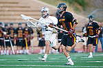 San Diego, CA 05/25/13 - Peter Hollen (Torrey Pines #11) and Nicholas Vreeburg (La Costa Canyon #2) in action during the 2013 CIF San Diego Section Open DIvision Boys Lacrosse Championship game.  Torrey Pines defeated La Costa Canyon 7-5.