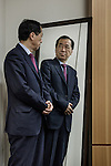 Tokyo, Japan, February 19 2016 - Portrait of Japanese politician Naoto KAN. <br /> Mr KAN, member of the Democratic Party of Japan (DPJ), was the Prime Minister of Japan from June 8 2010 to September 2 2011, including the March 11 2011 earthquake and Fukushima disaster. Mr KAN turned into an anti-nuke activist since his resignation as Prime Minister.