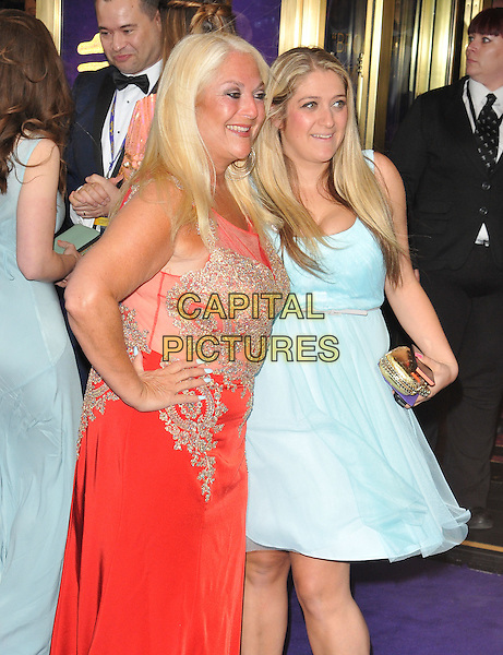 Vanessa Feltz &amp; Saskia Kurer at the &quot;Disney's Aladdin&quot; press night, Prince Edward Theatre, Old Compton Street, London, England, UK, on Wednesday 15 June 2016.<br /> CAP/CAN<br /> &copy;CAN/Capital Pictures