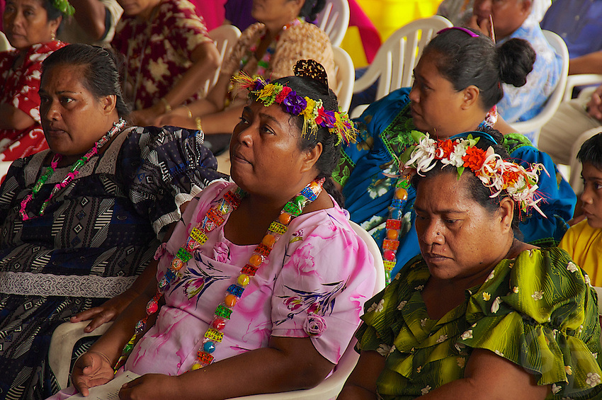 Traditional Chuukese on the island of Chuuk, also called Truk Lagoon in Micronesia Micronesia