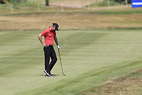 Marcel Siem (GER) unhappy with his 2nd shot on the 13th hole during Saturday's Round 3 of the Porsche European Open 2018 held at Green Eagle Golf Courses, Hamburg Germany. 28th July 2018.<br /> Picture: Eoin Clarke | Golffile<br /> <br /> <br /> All photos usage must carry mandatory copyright credit (&copy; Golffile | Eoin Clarke)