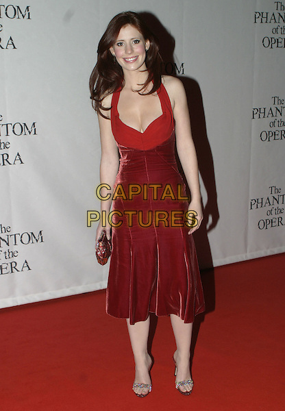 "AMY NUTTALL.""The Phantom of the Opera"" World Premiere Party,.Grand Hall Olympia, London, December 6th 2004..full length red dress.Ref: AH.www.capitalpictures.com.sales@capitalpictures.com.©Capital Pictures."