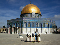 The Holy Muslim Dome of the Rock, in the Old City of Jerusalem. Photo by Quique Kierszenbaum