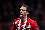 Diego Roberto Godin Leal of Atletico de Madrid reacts during the UEFA Europa League 2017-18 Round of 32 (2nd leg) match between Atletico de Madrid and FC Copenhague at Wanda Metropolitano  on February 22 2018 in Madrid, Spain. Photo by Diego Souto / Power Sport Images