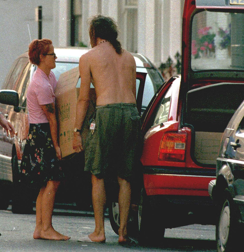 Paula Yates moves out of the marital home she shared with Sir Bob Geldof following her relationship with Michael Hutchence of INXS.PIC JAYNE RUSSELL. 22.09.1995