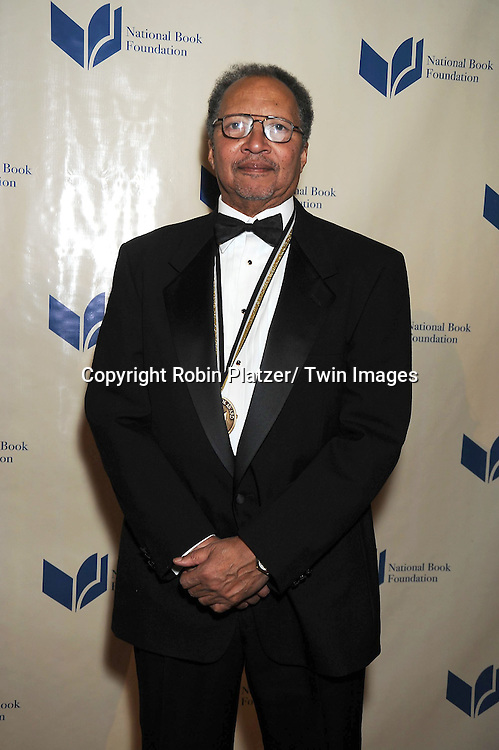 nominee Walter Dean Myers attending The 2010 National Book Awards on November 17, 2010 at Cipriani Wall Street in New York City.