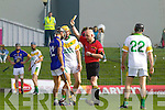 A malee breaks out during half time at the County Senior Hurling Final between Lixnaw andKilmoyley in the at Austin Stack Park Tralee on Sunday.