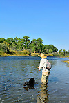 Bighorn River  Fort Smith Montana, fly fishing with your dog