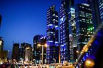 QATAR, Doha, skyscraper east bay / KATAR, Doha, Wolkenkratzer der Eastbay