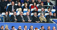 The Swansea City directors look on during the Barclays Premier League match between Leicester City and Swansea City played at The King Power Stadium, Leicester on 24th April 2016