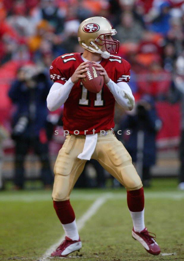 Alex Smith, of the San Francisco 49ers, in action  during thier game against the Houston Texans on January 1, 2006...49ers win 20-17...Rob Holt / SportPics