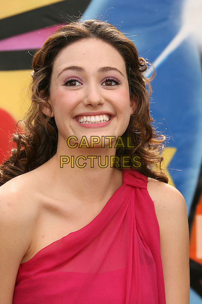 EMMY ROSSUM.2007 Teen Choice Awards held at the Gibson Amphitheater, Universal City, California, USA..August 26th, 2007.headshot portrait pink one shoulder .CAP/ADM/RE.©Russ Elliot/AdMedia/Capital Pictures