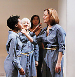 """Mirirai Sithole, Kitty Chen, Caitlin Cisco, Orlagh Cassidy star in play as The Cell presents Origin Theatre Company with the North American Premiere of """"The Hundred We Are""""  at the dress rehearsal on March 16, 2016 through April 8 at the Cell Theatre on 23rd St, New York City, New York. (Photo by Sue Coflin/Max Photos)"""