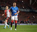 19.09.2019 Rangers v Feyenoord: James Tavernier reacts after missing his penalty kick