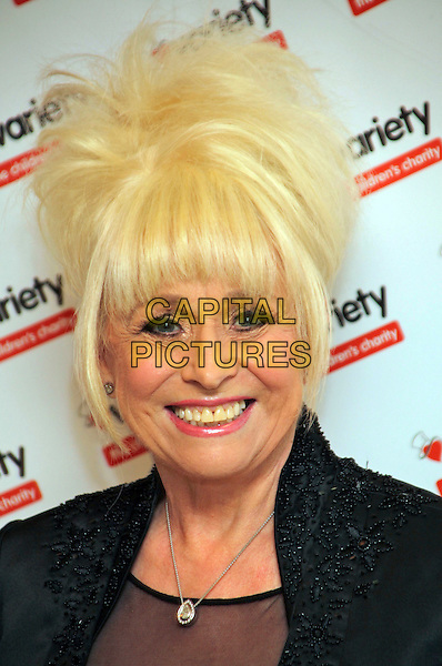 Barbara Windsor .Variety Club 60th Annual Dinner and Auction at the Grosvenor Hotel, London, England, UK, March 3rd 2012..portrait headshot  smiling fringe back silver necklace .CAP/JEZ  .©Jez/Capital Pictures.