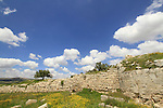 Samaria, Sebastia, the Western gate of the Roman city Sebaste, built by King Herod in the 2nd century A.D.