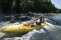 Kayaking on Rivanna River.