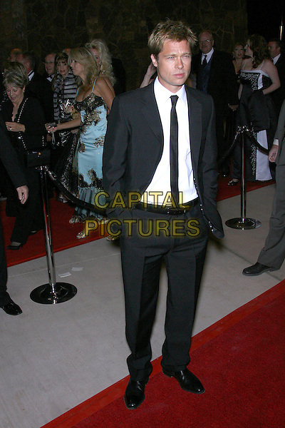 BRAD PITT.18th Annual Palm Springs International Film Festival Hosts Star-Studded Awards Gala held at the Palm Springs Convention Center, Palm Springs, California, USA,.6 January 2007..full length black suit tie hands in pockets.CAP/ADM/ZL.©Zach Lipp/Admedia/Capital Pictures