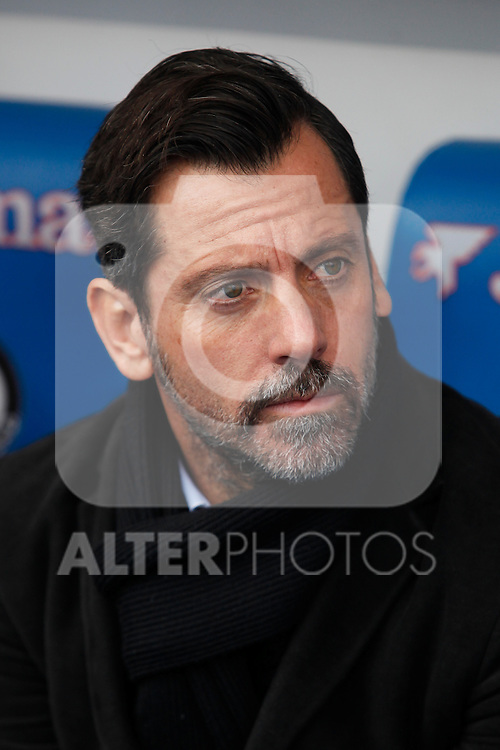 Getafe´s coach Quique Sanchez Flores during La Liga match at Coliseum Alfonso Perez stadium  in Getafe, Spain. January 18, 2015. (ALTERPHOTOS/Victor Blanco)