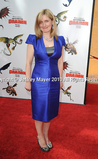 UNIVERSAL CITY, CA. - March 21: Author Cressida Cowell  arrives at the premiere of ''How To Train Your Dragon'' at Gibson Amphitheater on March 21, 2010 in Universal City, California.