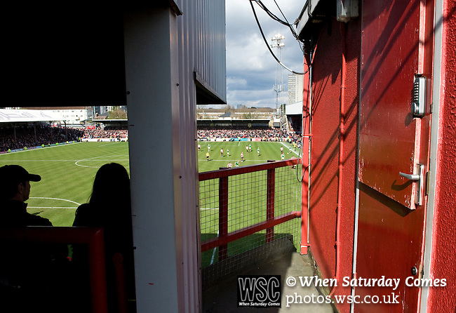 Brentford 0 Doncaster Rovers 1, 27/04/2013. Griffin Park, League One. Griffin Park hosts a showdown between two clubs aiming for automatic promotion from League One. View from the seated section of The Brook Road Stand. Photo by Simon Gill.