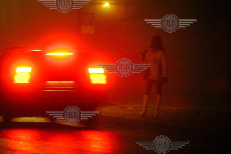Prostitute on street. Prostitution