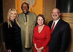 From left: Marie Bosarge, Louis Gosset Jr., Judit Finkel and Martin Cominsky at a dessert reception for Gossett Jr. and the Anti-Defamation League at Chateau Carnarvon Tuesday Nov. 11, 2014.(Dave Rossman photo)