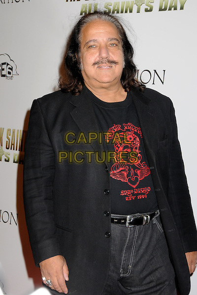 "RON JEREMY.""The Boondock Saints II: All Saints Day"" Los Angeles Premiere held at Arclight Cinemas, Hollywood, California, USA..October 28th, 2009.half length jacket black red print moustache mustache facial hair.CAP/ADM/BP.©Byron Purvis/AdMedia/Capital Pictures."