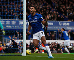 Dominic Calvert Lewin of Everton celebrates the first goal during the Premier League match at Goodison Park, Liverpool. Picture date: 7th December 2019. Picture credit should read: Simon Bellis/Sportimage