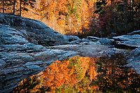 Autumn reflection at Woodall Shoals