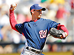 17 March 2007: Washington Nationals pitcher Levale Speigner in action against the New York Mets at Tradition Field in Port St. Lucie, Florida...Mandatory Photo Credit: Ed Wolfstein Photo