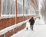 Snowstorm in Boston, Massachusetts, USA