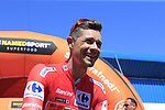 Race leader Red Jersey Nicolas Roche (IRL) Team Sunweb at sign on before the start of Stage 5 of La Vuelta 2019 running 170.7km from L'Eliana to Observatorio Astrofisico de Javalambre, Spain. 28th August 2019.<br /> Picture: Eoin Clarke | Cyclefile<br /> <br /> All photos usage must carry mandatory copyright credit (© Cyclefile | Eoin Clarke)