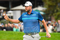 26th January 2020, Torrey Pines, La Jolla, San Diego, CA USA;  Marc Leishman celebrates after he makes birdie on the 18th hole on the South Course during the final round of the Farmers Insurance Open golf tournament at Torrey Pines Municipal Golf Course on January 26, 2020.