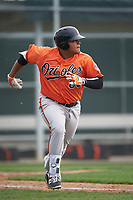 Baltimore Orioles Carlos Diaz (80) during a minor league Spring Training intrasquad game on April 2, 2016 at Buck O'Neil Complex in Sarasota, Florida.  (Mike Janes/Four Seam Images)