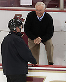 Tim Benedetto, Jerry York (BC - Head Coach) - The Boston College Eagles defeated the visiting University of New Brunswick Varsity Reds 6-4 in an exhibition game on Saturday, October 4, 2014, at Kelley Rink in Conte Forum in Chestnut Hill, Massachusetts.